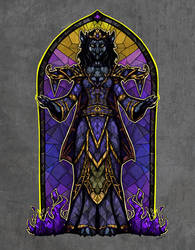 Stained glass worgen by TheStarBear