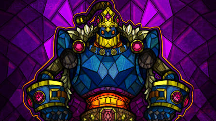 Bomb King Stained Glass - Paladins Fanart