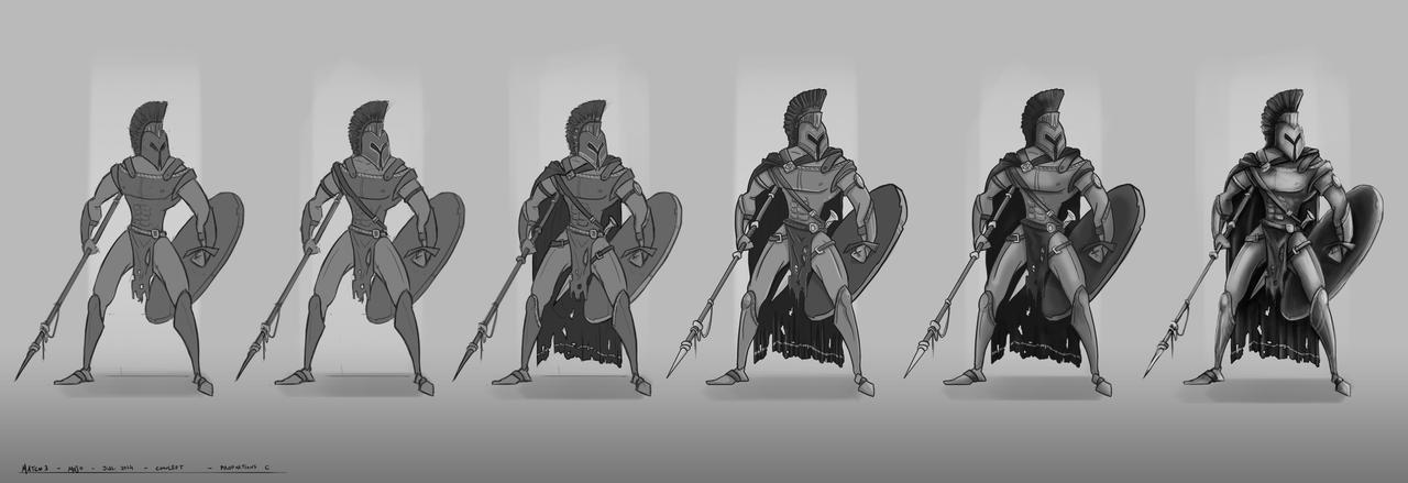Spartan Hoplite - Progress by mojoartwork