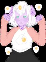 eggs make u strong :^) by mothshrooms