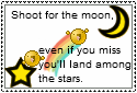 Shoot For The Moon Stamp by crazydumdum
