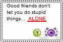 Good Friends Stamp by crazydumdum