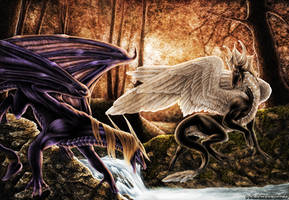 Forest dragons by Marawuff