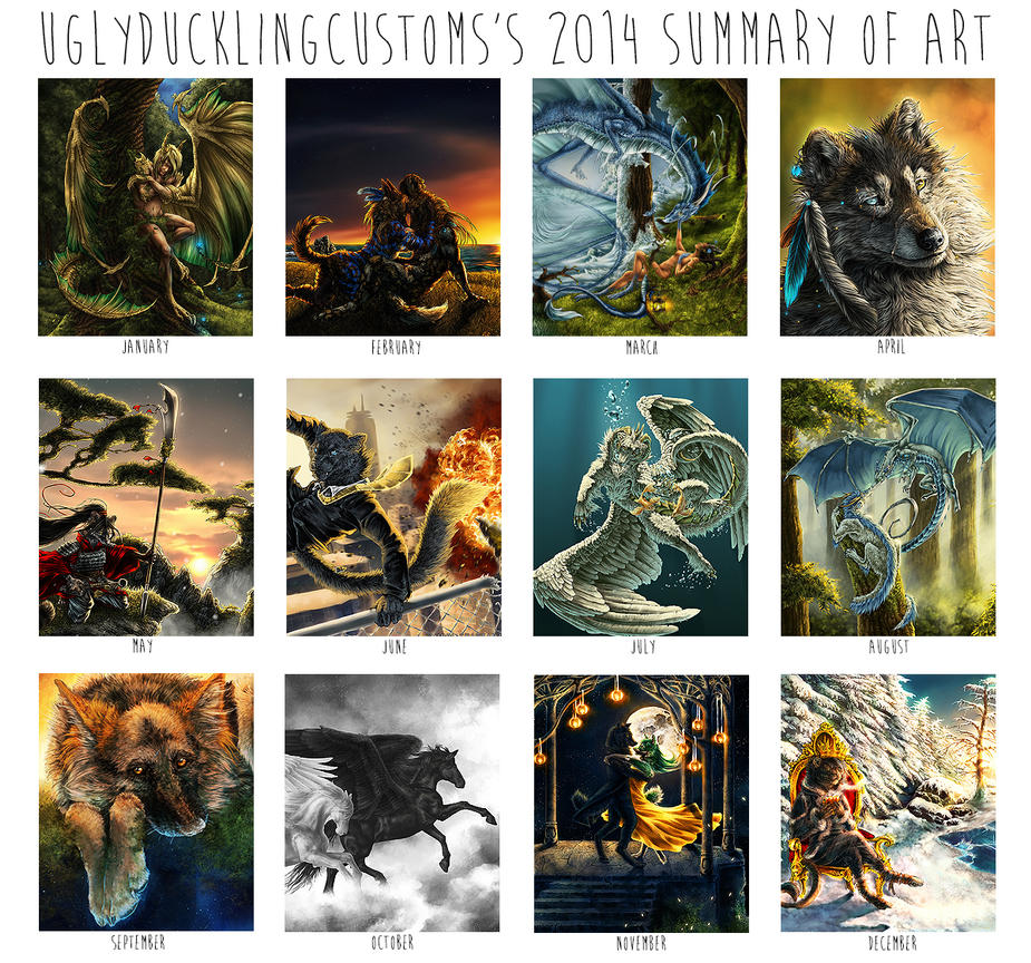 Art summary - 2014 by UglyDucklingCustoms
