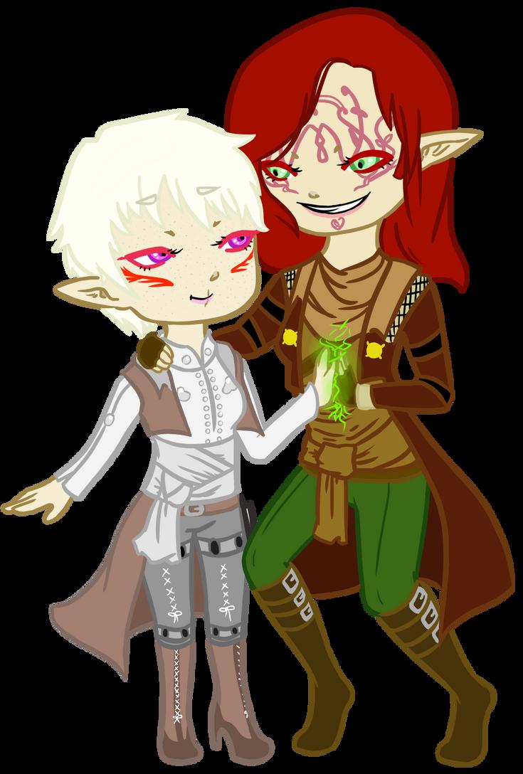 DA: I Thaeryn and Aramoth, Heralds of Andraste by traffycake