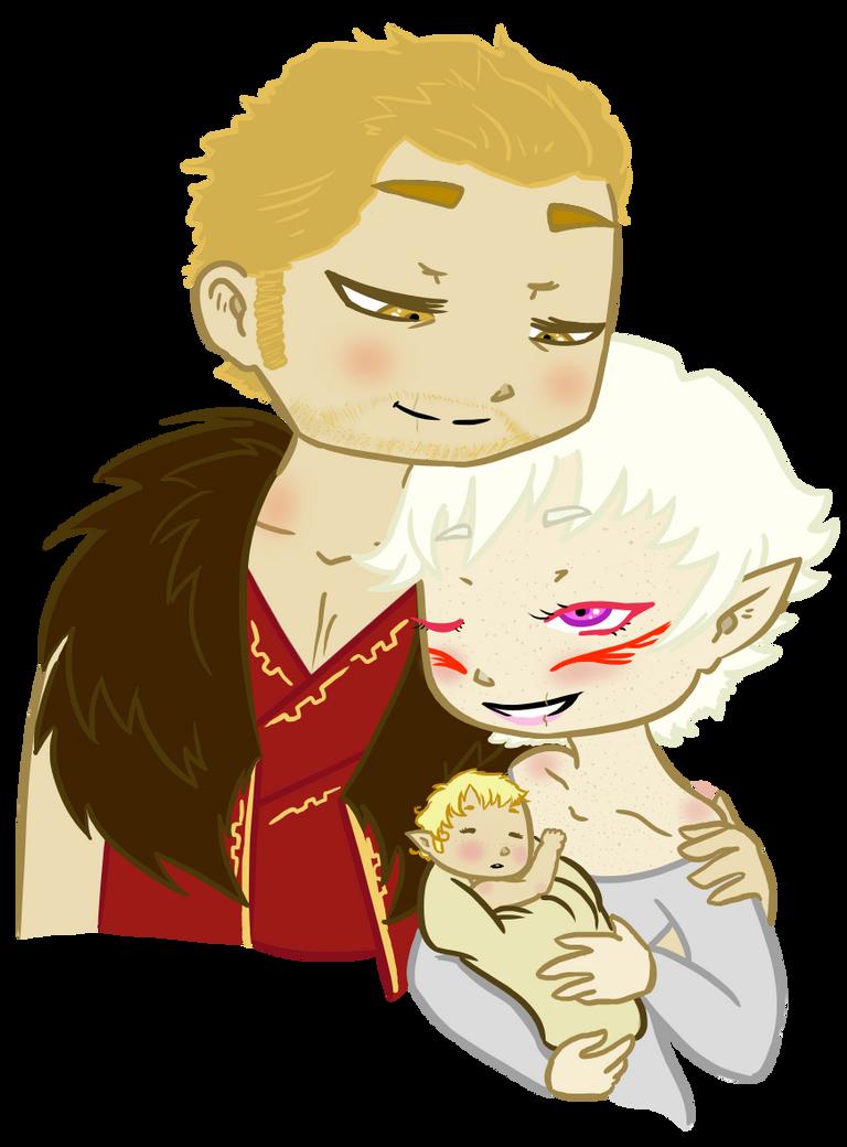 DA:I Cullen, Thaeryn, and Ellora by traffycake