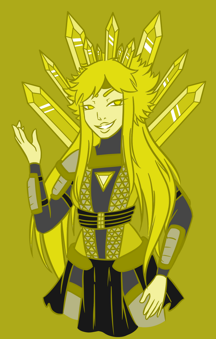 Homeworld Theory Character Designs: Yellow Diamond by traffycake