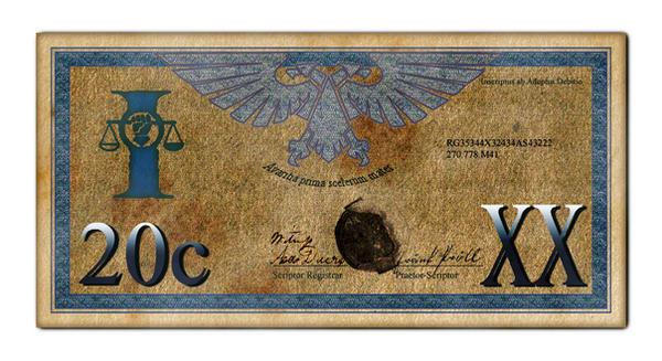 Imperial 20 Credit Bill