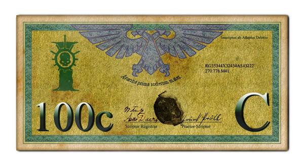 Imperial 100 Credit Bill