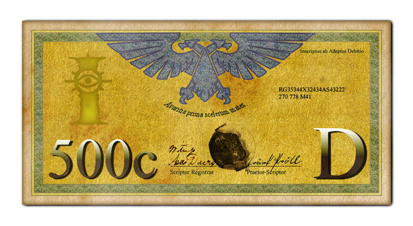 Imperial 500 Credit Bill