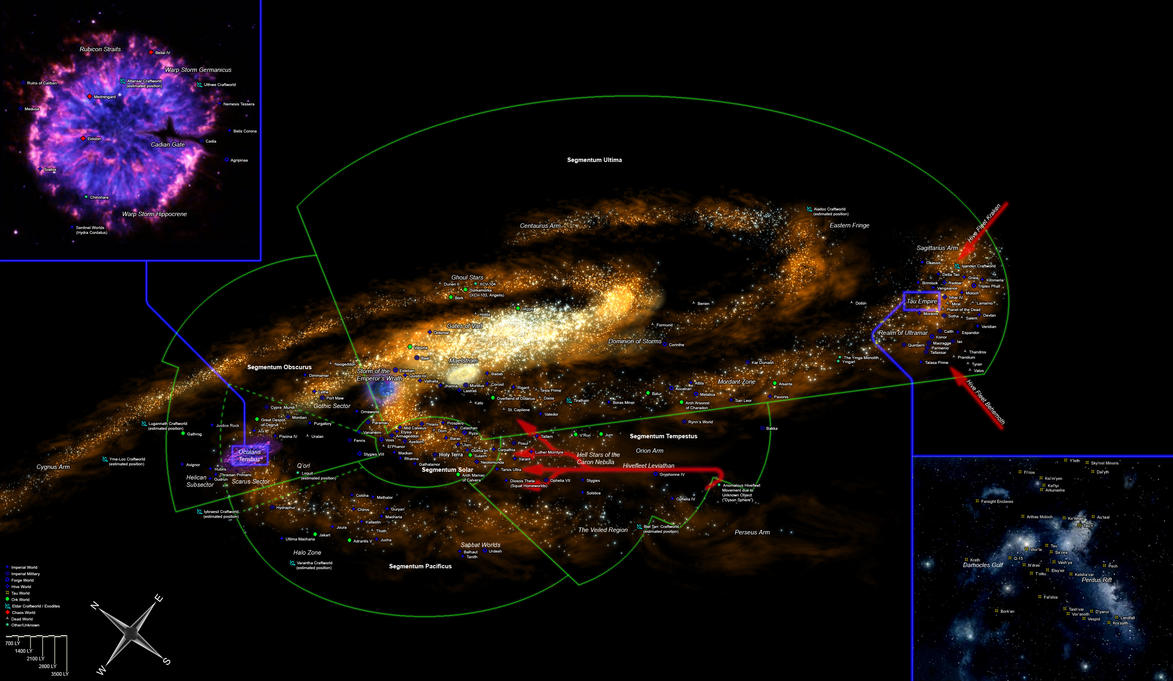 Warhammer 40,000 Galaxy Map by ikkaan