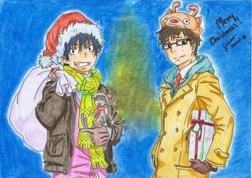 Christmas Ao No Exorcist by Gakari-sama