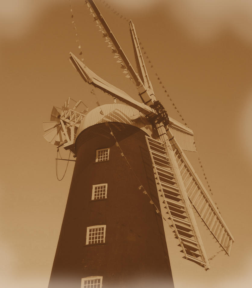 Windmill in Sepia by markeverard
