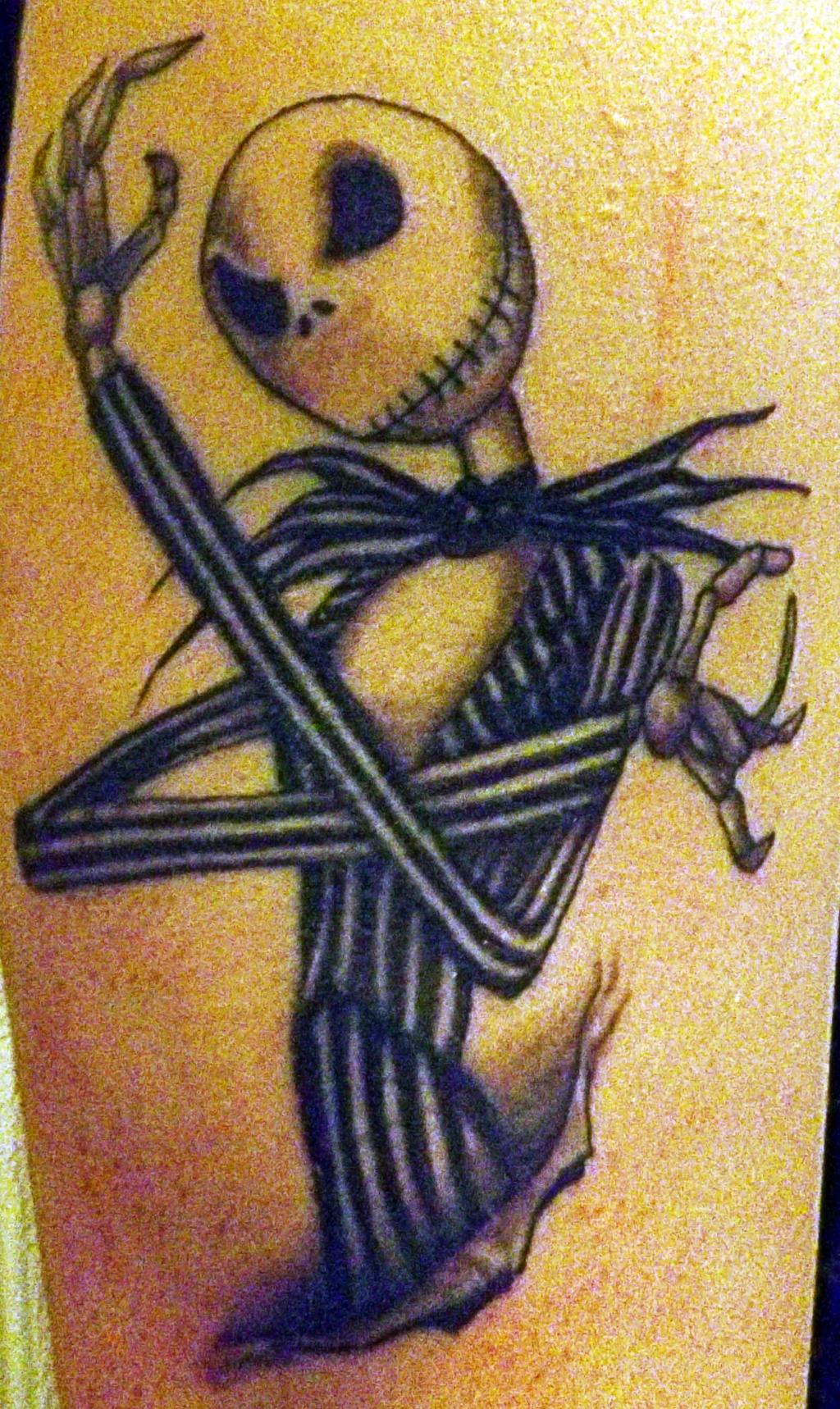 Jack Skellington Tattoo by markeverard