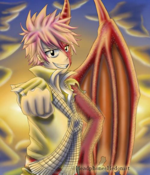 Materi Pelajaran 5 Anime Fairy Tail Natsu Dragon Form
