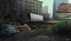 Post-apocalypse scene by AyratCG