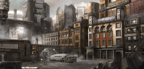 METALPUNK 02/ Sorlom: Middle District by AyratCG