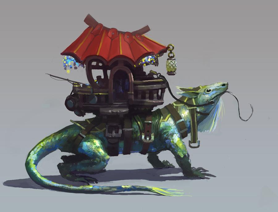lizard by Zoonoid