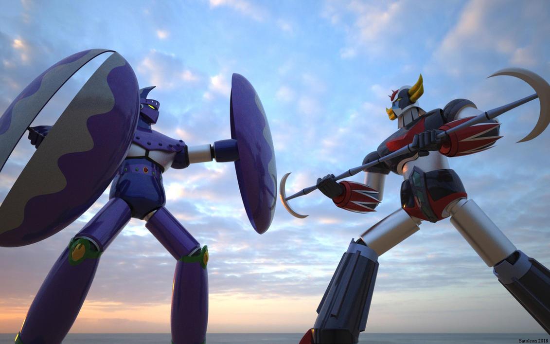 Le plus beau de tous les robots - Page 36 Goldrake_vs_space_beast_deki_deki_by_satoleon-dcdjw2j