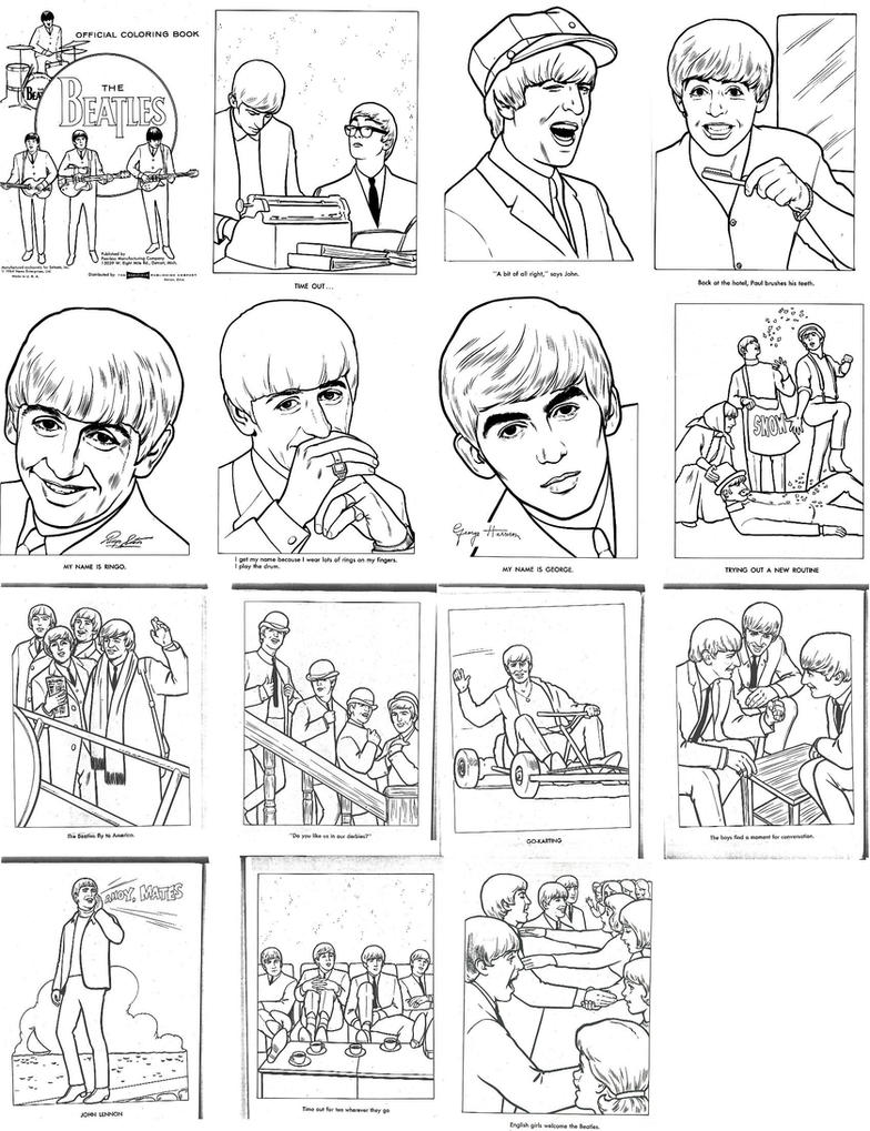 BEATLES COLORING BOOK!!!!!! by Dorfal on DeviantArt