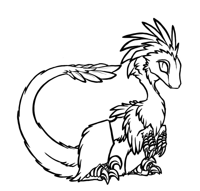 Free Raptor Lineart by BasiliskZero on DeviantArt