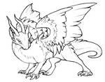 Free Dragon Lineart