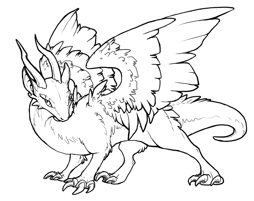 Line Art Free : Free dragon lineart by basiliskzero on deviantart