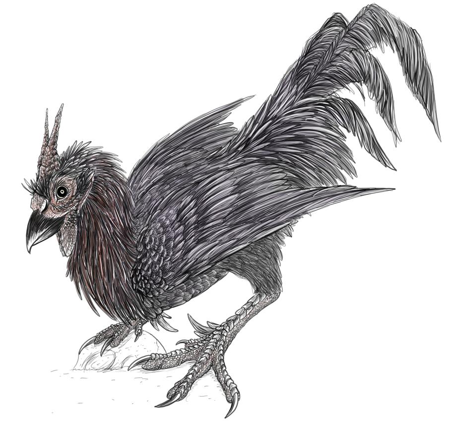 Hel's rooster by BasiliskZero
