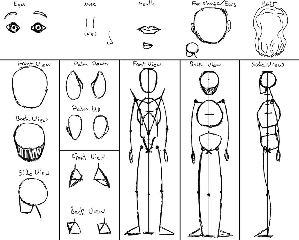 Character Design Layout : Character design page layout by erinaceousfinnimbrun on