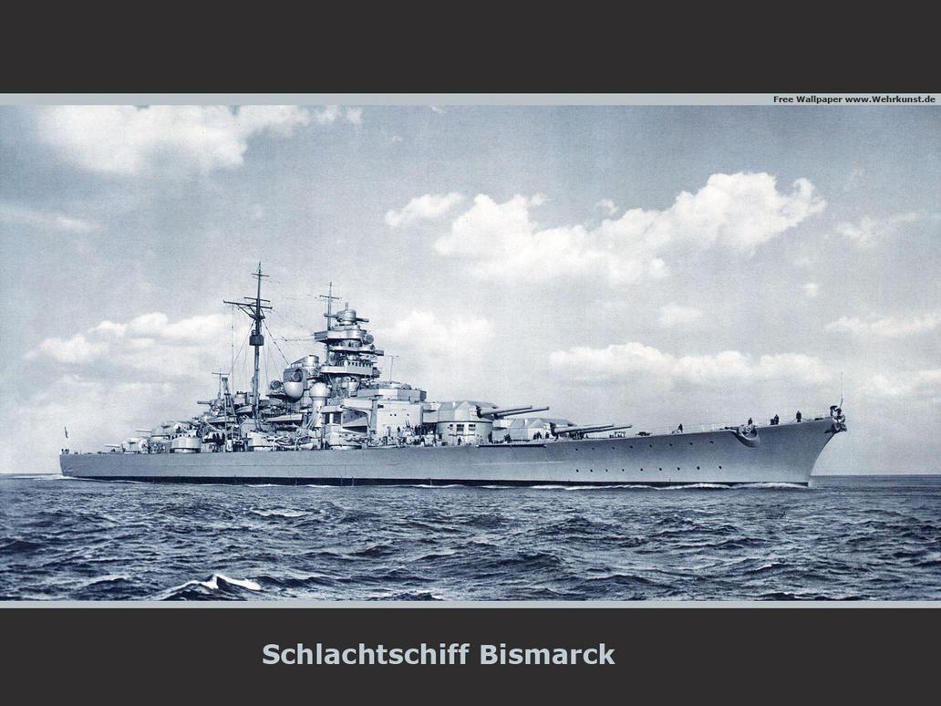 戦艦ビスマルク全体が見える壁紙