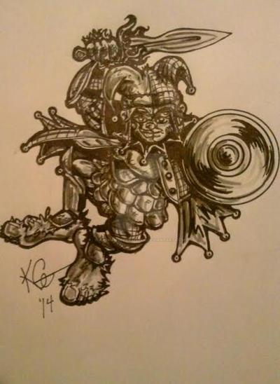 Halfling Warrior Ex Kings Jester By Archangelartistkg On Deviantart