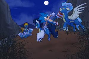 Sonic vs the Wonderbolts
