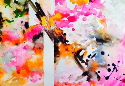 Abstraction Spring Blossoms by maidennamee1