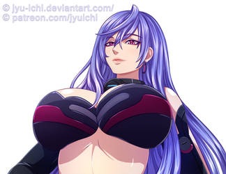 Hyperdimension Neptunia, Iris Heart, Plutia by jyu-ichi