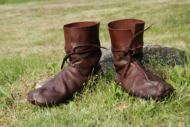 Viking shoes: Hedeby 10th c. by Nimpsu