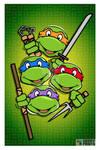 Teenage Mutant Ninja Turtles Poster - TNMT Retro S