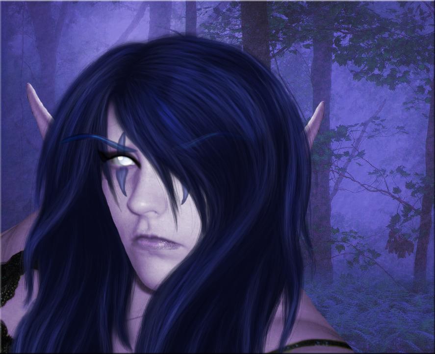 Night Elf Realistic Personal Original by Hollena