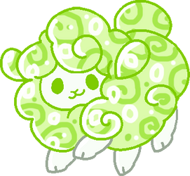 Green Sheep Adopt 1/3 (Open)