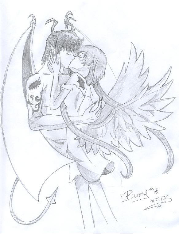 Angels Y Demonios Dibujos a Lapiz