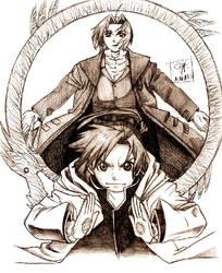 Fullmetal Ed and Al by Ainath