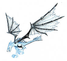 Winged Terror - inks WIP by BigRobot
