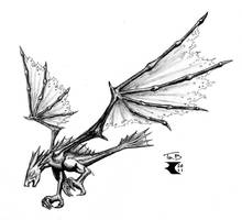 Winged Terror - finished inks by BigRobot