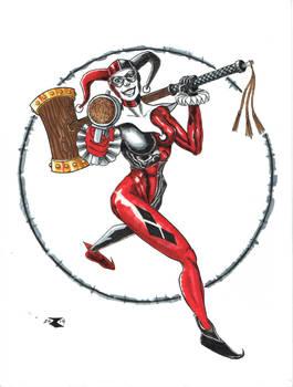Harley Quinn colors