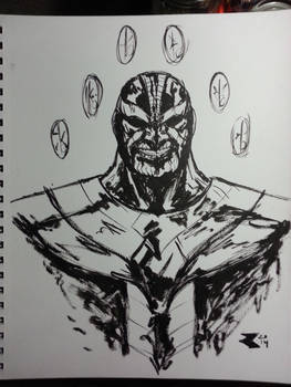 Thanos b/w brush