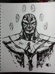 Thanos b/w brush by BigRobot