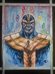 Thanos watercolor by BigRobot