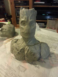 Groot clay sculpt - front by BigRobot