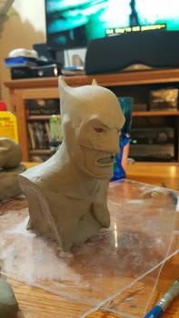 Batman bust 3/4 view