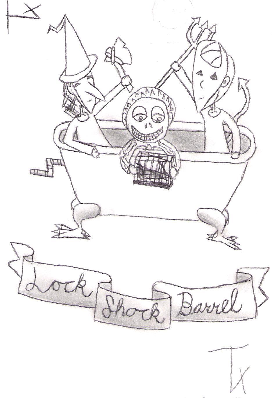 lock shock and barrel by ghostaz on deviantart. Black Bedroom Furniture Sets. Home Design Ideas