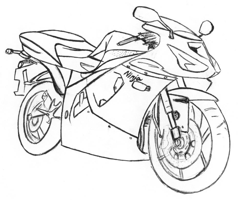 ninja motorcycle coloring pages - photo#18